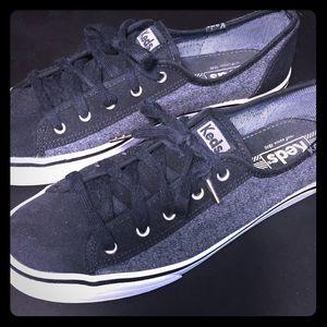 Women's KEDS Size 8 1/2. Black & Grey